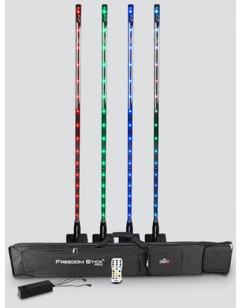 Location d'un pack de luminaire LED RGB sur pied CHAUVET DJ