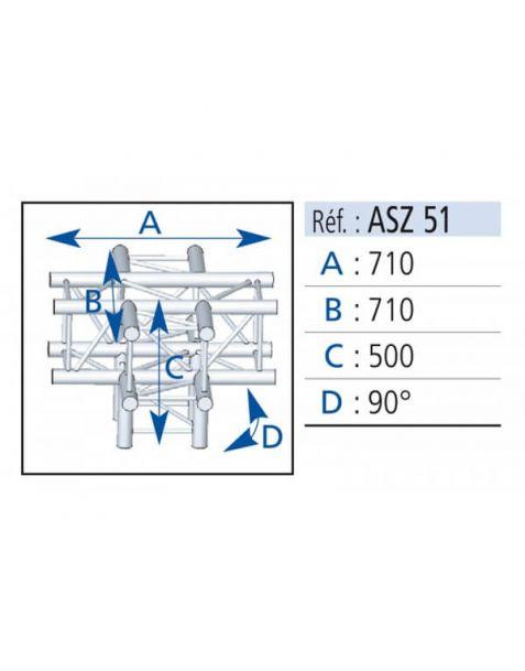 Location d'angle de structure ASD 5 directions en alu sur Lyon