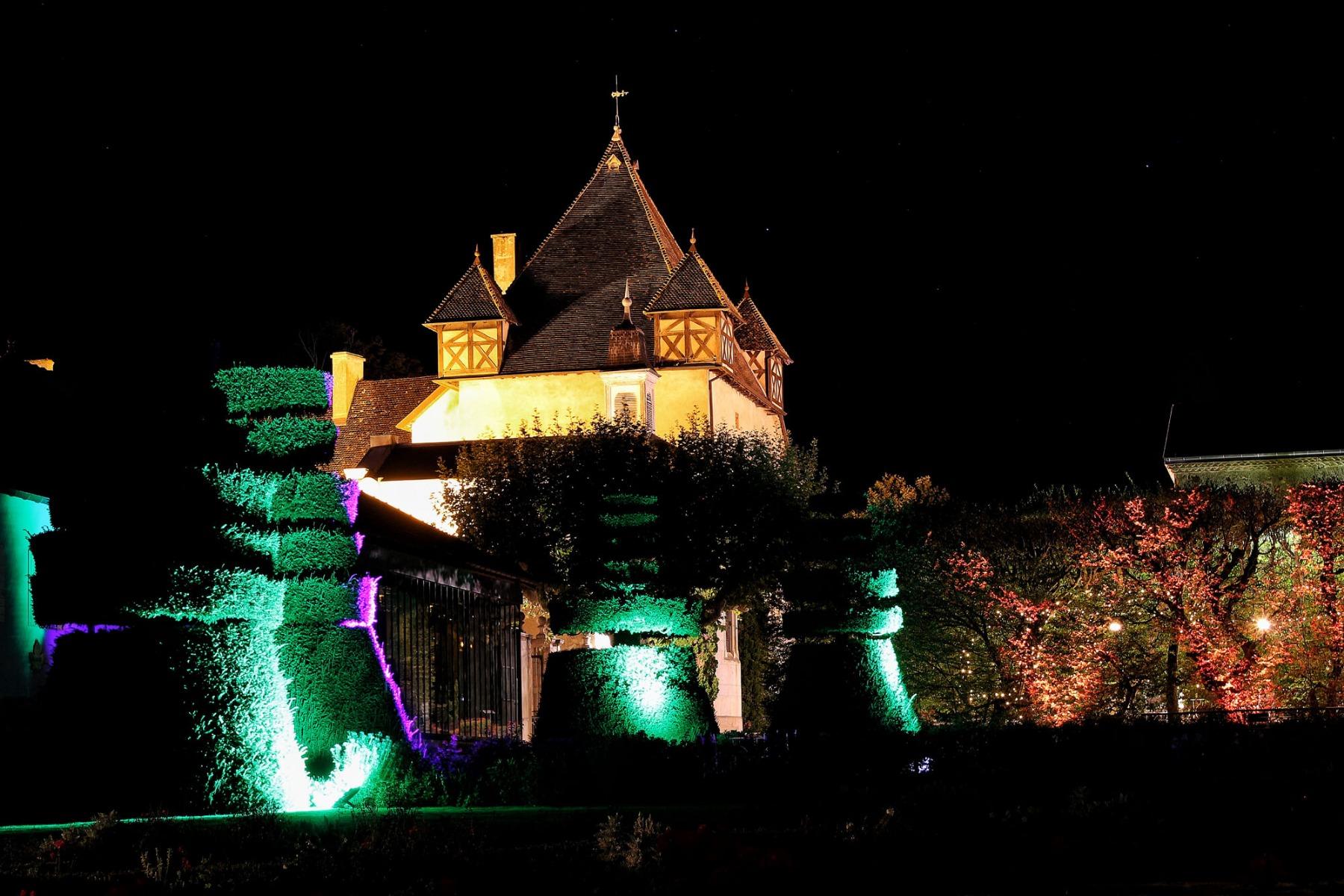 Eclairage architectural Château de Pizay