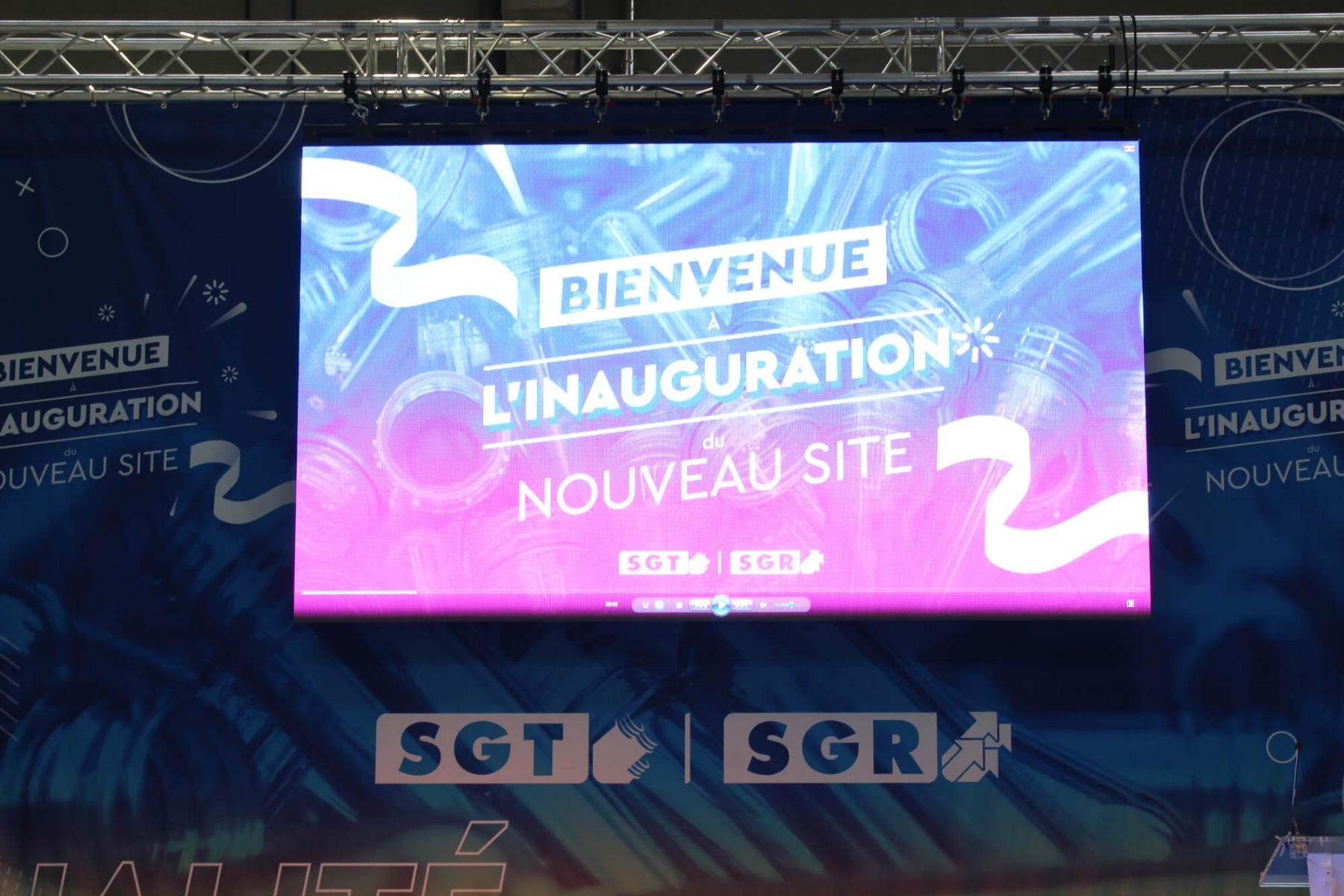 Ecran LED KINESIK pour prestation audiovisuelle : inauguration