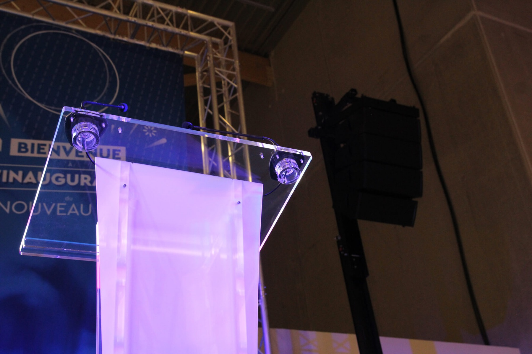 Discours inauguration avec système son Uniline Compact