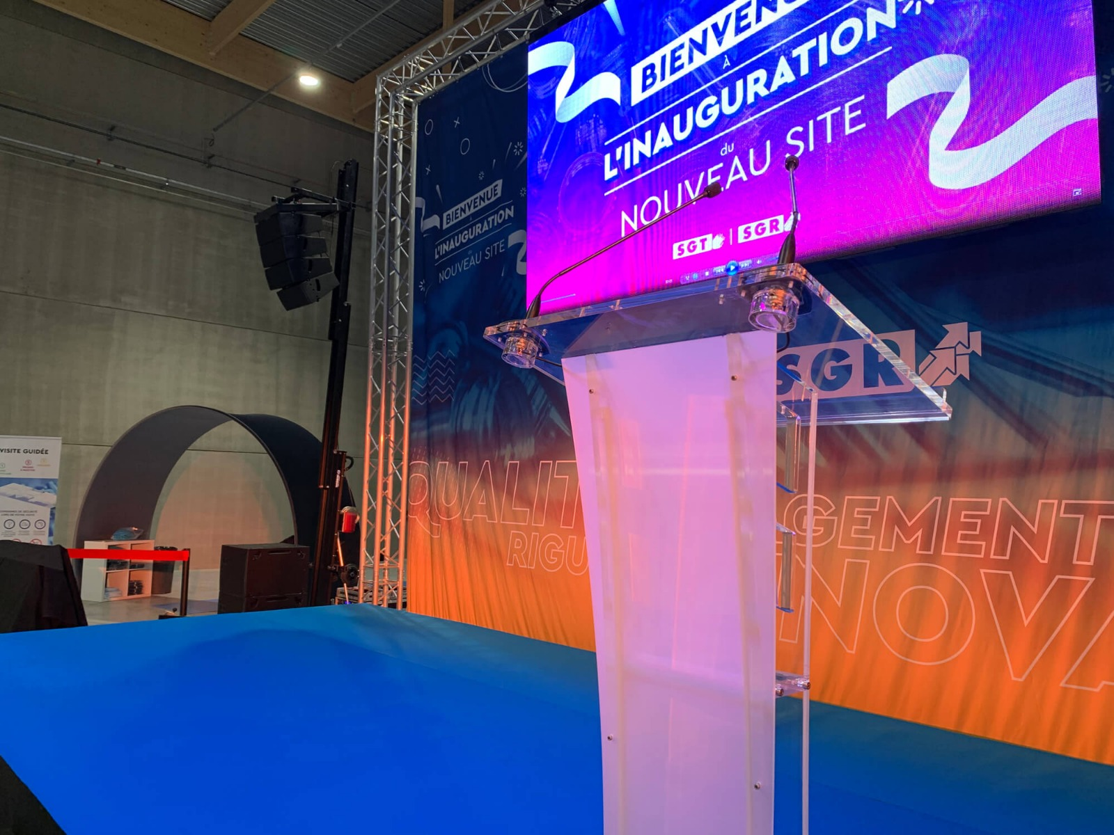 Scène discours inauguration Chalon-sur-Saône