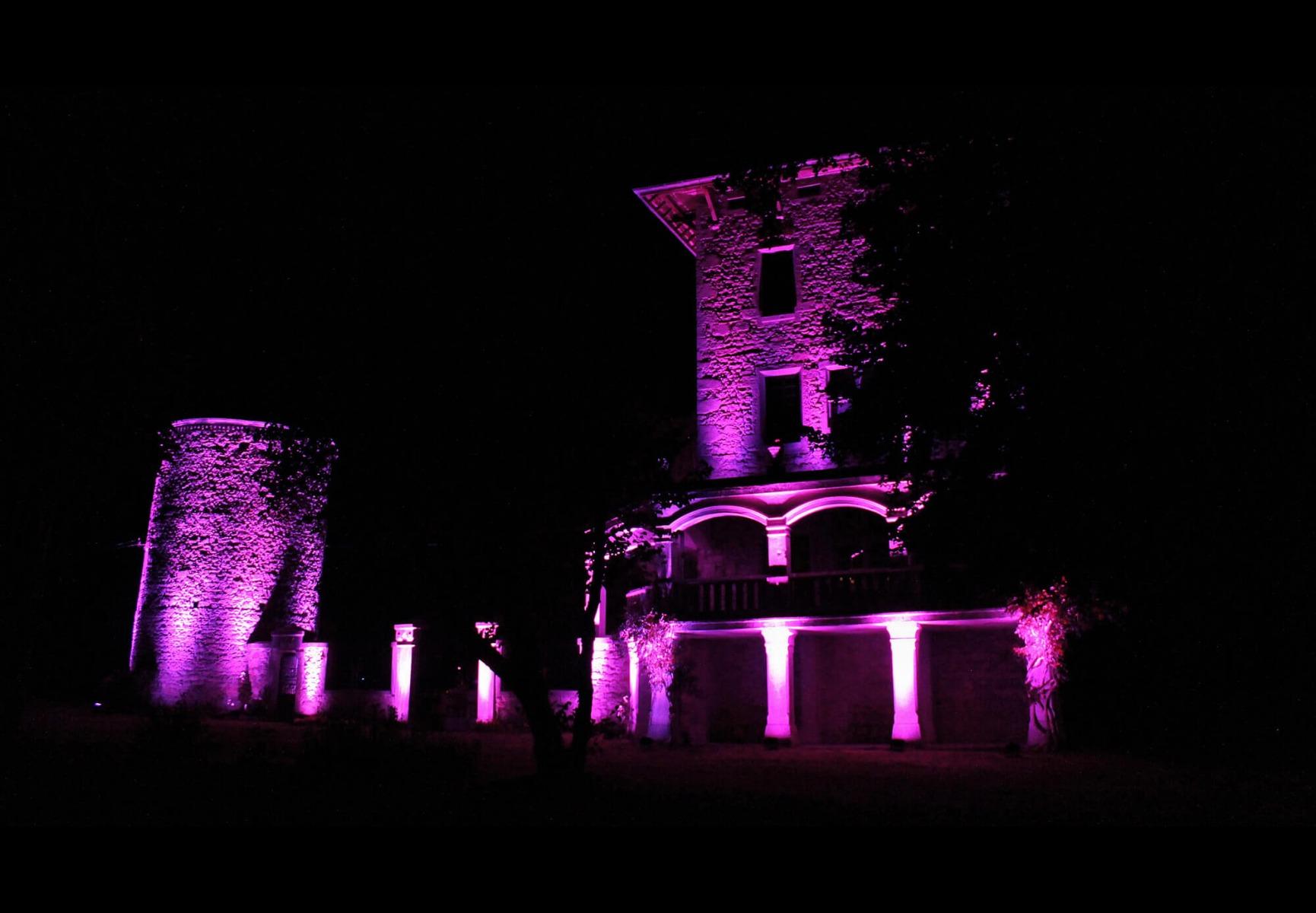 Eclairage architectural d'un château