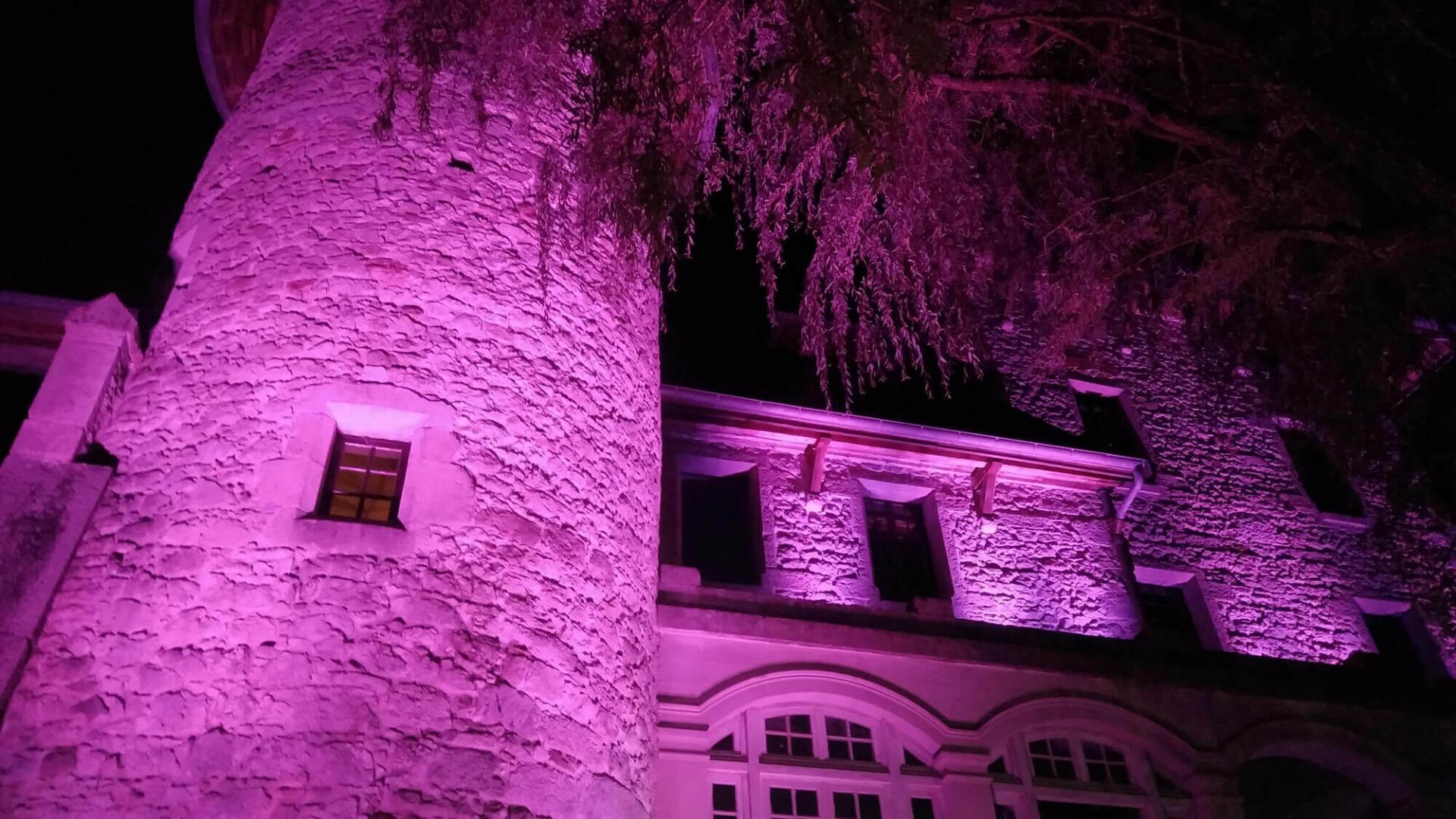 Mise en lumière avec projecteur étanche